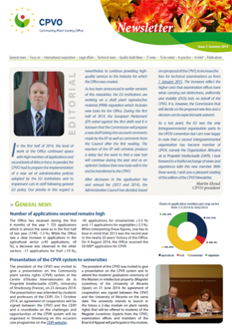 CPVO Newsletter #7 cover page