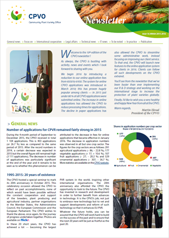 CPVO Newsletter #10 cover page